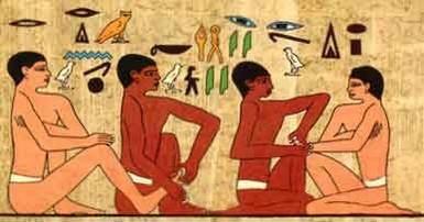 riflessologia plantare nell'antichità