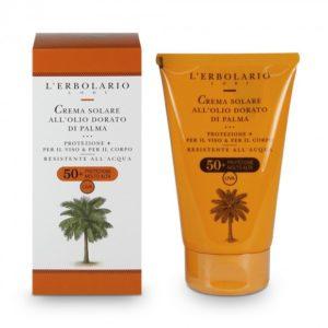 crema solare all'olio dorato di palma erbolario